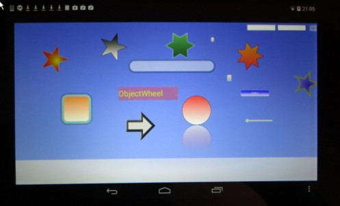 Objectwheel is running on Android